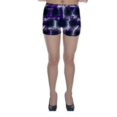 Fading Holes Skinny Shorts