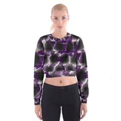 Fading holes   Women s Cropped Sweatshirt