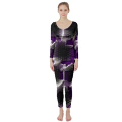 Fading Holes  Long Sleeve Catsuit