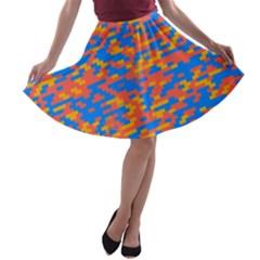 Pixels A Line Skater Skirt