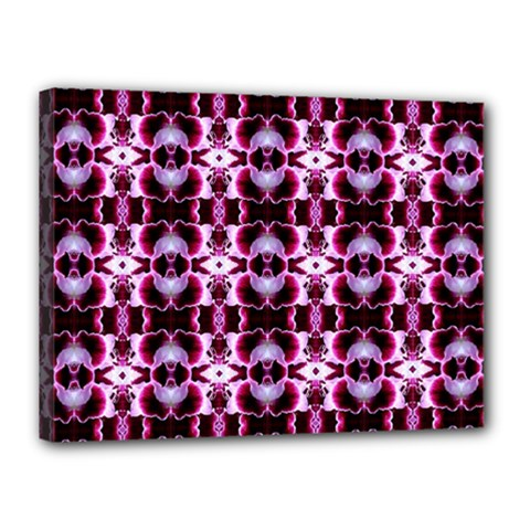 Purple White Flower Abstract Pattern Canvas 16  X 12