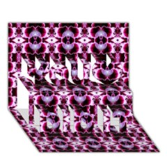 Purple White Flower Abstract Pattern You Did It 3d Greeting Card (7x5)