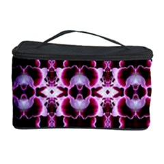 Purple White Flower Abstract Pattern Cosmetic Storage Cases