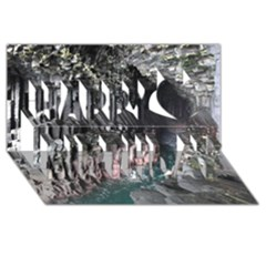 Fingals Cave Happy Birthday 3d Greeting Card (8x4)
