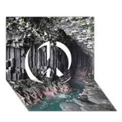 FINGALS CAVE Peace Sign 3D Greeting Card (7x5)
