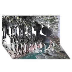 FINGALS CAVE Best Wish 3D Greeting Card (8x4)