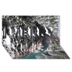 FINGALS CAVE Merry Xmas 3D Greeting Card (8x4)