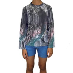 Fingals Cave Kid s Long Sleeve Swimwear
