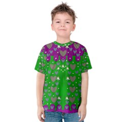 The Brightest sparkling stars Is Love Kid s Cotton Tee