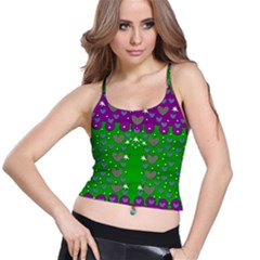 The Brightest sparkling stars Is Love Spaghetti Strap Bra Top