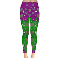 The Brightest Sparkling Stars Is Love Leggings