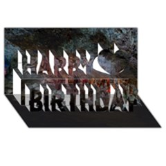 CAVES OF DRACH Happy Birthday 3D Greeting Card (8x4)