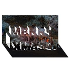CAVES OF DRACH Merry Xmas 3D Greeting Card (8x4)