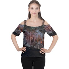 CAVES OF DRACH Women s Cutout Shoulder Tee