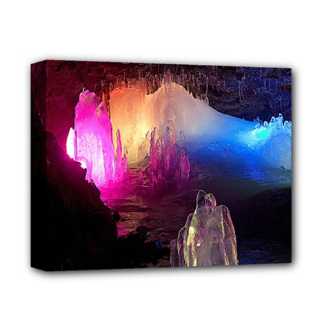 CAVE IN ICELAND Deluxe Canvas 14  x 11