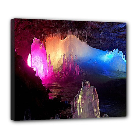 CAVE IN ICELAND Deluxe Canvas 24  x 20