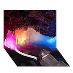 Cave In Iceland Heart Bottom 3d Greeting Card (7x5)