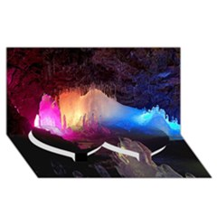 CAVE IN ICELAND Twin Heart Bottom 3D Greeting Card (8x4)