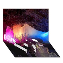 CAVE IN ICELAND LOVE Bottom 3D Greeting Card (7x5)