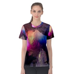 Cave In Iceland Women s Sport Mesh Tees