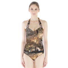 CARLSBAD CAVERNS Women s Halter One Piece Swimsuit