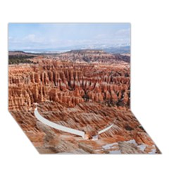 Bryce Canyon Amp Heart Bottom 3d Greeting Card (7x5)