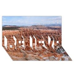 BRYCE CANYON AMP BELIEVE 3D Greeting Card (8x4)