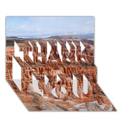 BRYCE CANYON AMP THANK YOU 3D Greeting Card (7x5)