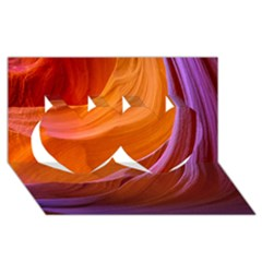 ANTELOPE CANYON 2M Twin Hearts 3D Greeting Card (8x4)