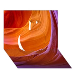 Antelope Canyon 2m Apple 3d Greeting Card (7x5)