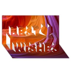 ANTELOPE CANYON 2M Best Wish 3D Greeting Card (8x4)