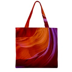 Antelope Canyon 2m Zipper Grocery Tote Bags