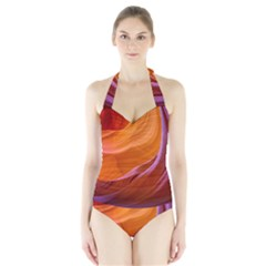 Antelope Canyon 2m Women s Halter One Piece Swimsuit