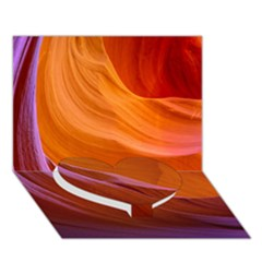 Antelope Canyon 2 Heart Bottom 3d Greeting Card (7x5)