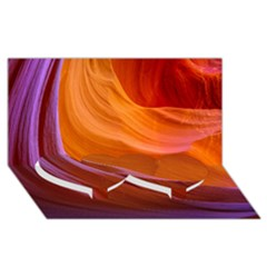 ANTELOPE CANYON 2 Twin Heart Bottom 3D Greeting Card (8x4)