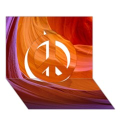 Antelope Canyon 2 Peace Sign 3d Greeting Card (7x5)
