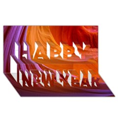 ANTELOPE CANYON 2 Happy New Year 3D Greeting Card (8x4)