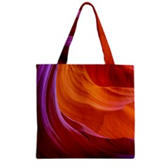 Antelope Canyon 2 Zipper Grocery Tote Bags