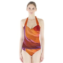 ANTELOPE CANYON 2 Women s Halter One Piece Swimsuit