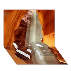 Antelope Canyon 1 Love Bottom 3d Greeting Card (7x5)