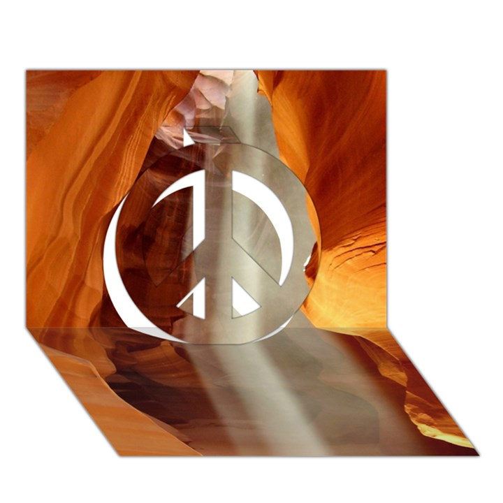ANTELOPE CANYON 1 Peace Sign 3D Greeting Card (7x5)
