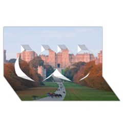 WINDSOR CASTLE Twin Hearts 3D Greeting Card (8x4)