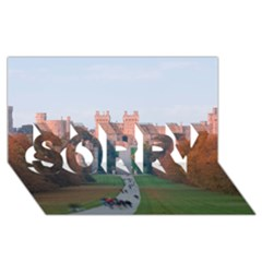 WINDSOR CASTLE SORRY 3D Greeting Card (8x4)