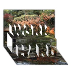 WAKAYAMA GARDEN WORK HARD 3D Greeting Card (7x5)
