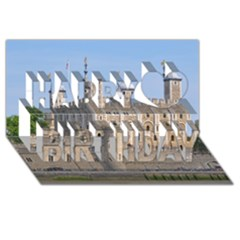 TOWER OF LONDON 2 Happy Birthday 3D Greeting Card (8x4)