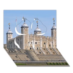 Tower Of London 2 Clover 3d Greeting Card (7x5)