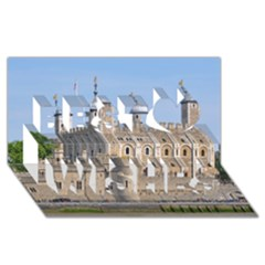 Tower Of London 2 Best Wish 3d Greeting Card (8x4)