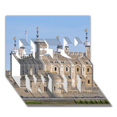 TOWER OF LONDON 2 Get Well 3D Greeting Card (7x5)