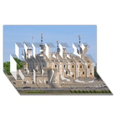 TOWER OF LONDON 2 Merry Xmas 3D Greeting Card (8x4)