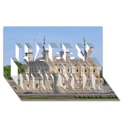 TOWER OF LONDON 2 Happy New Year 3D Greeting Card (8x4)